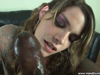 Lusty Babe Takes Care Of A Big Black Cock
