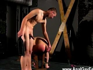 Gay Sex Tied Down To The Bench With His Slot On Show, Cristian Very First