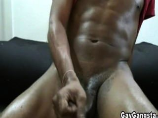Black Cock Masturbate By Gay Gangster