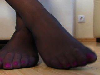 Nylon Feet Tease
