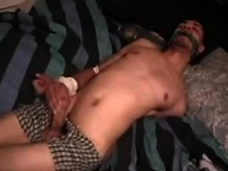 Black Dudes Tied Up In Cloths And Underwear
