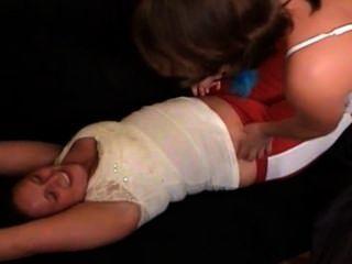Penelope Cricket Tickling