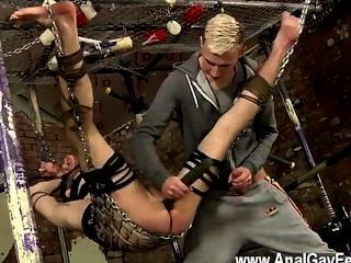 Gay Sex The Draped Dom Has A Need To Wank Out The Cum From His Own