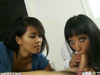 Gaia And Friend Share Cock