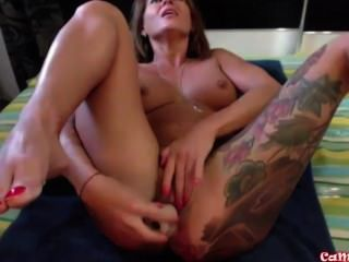 Wanna See Me All Tattooed Babe,fucking My Holes And Getting Squirt Fountain