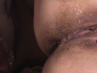 Cumshot And Gaping Pussy