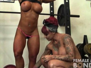 Dani Andrews And Megan Avalon Light Gym Bondage