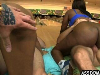 Jayla Foxx Sexy Ebony Big Ass And Her Friend Fuck In Bowling Alley_2.6