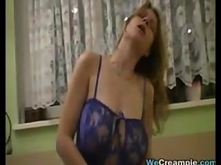 Horny Girl Gets A Creampie