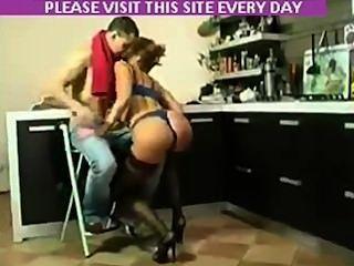 Stocking Russian Milf Show What She Got