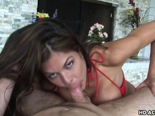 Busty Slut Loves Slurping Big Dicks