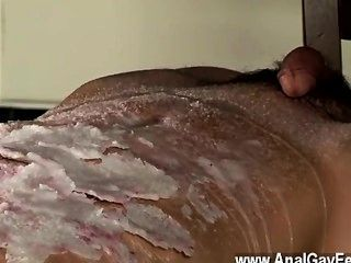 Amazing Gay Scene Splashed With Wax And Cum