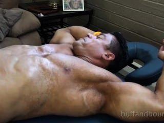 Powerful bodybuilder bound and tickled zeus diamonte