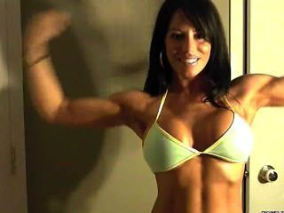 Julia Flexing Webcam