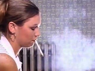 Amazing Dangle Nose Exhales, Smoking Doing Make Up