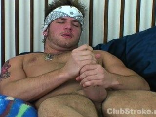 Blonde Straight Guy Brad Masturbating