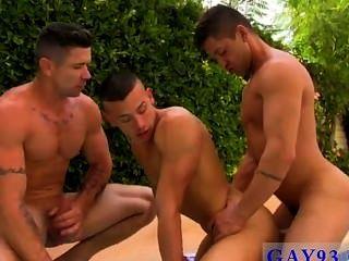 Gay Guys A Rampant Poolside Fuck