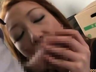 Office Lady Giving Blowjob On Her Knees Cum To Mouth In The Office