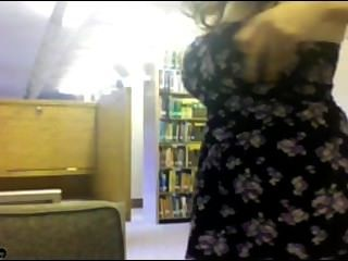 Sexy Chick Naked In Library