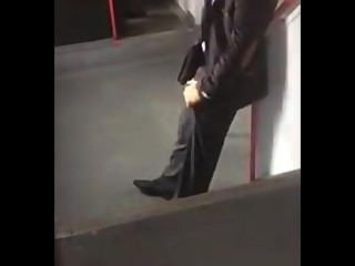 Man In Public Rubs His Cock