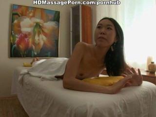 Thin Asian Fucked On Massage Table