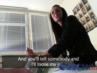 Czech Stunning Brunette Estate Agent Sucks And Fucks In Apartment