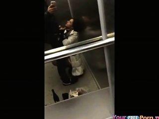 Teen Sucks Cock In An Elevator