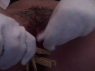 Hairy Brunette Plays With Pussy