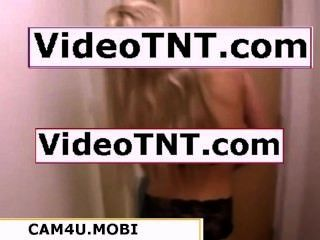 Hot Blonde Girl Sexy Black Garter Making Out Pizza Boy