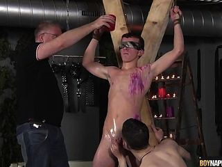 Cute Lad Gets Waxed And Wanked