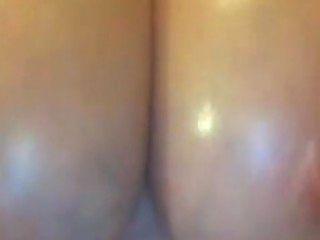 Girl Massaging Her Huge Oily Tits