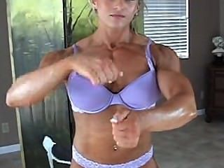 Nicole Berg Young Fbb Posing Purple Lingerie