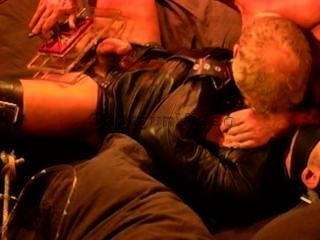 Sub Restrained In Leather Strait Jacket Gets Tt And Extreme Cbt