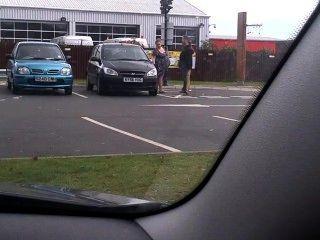 Parking Lot Pregnant Smoker