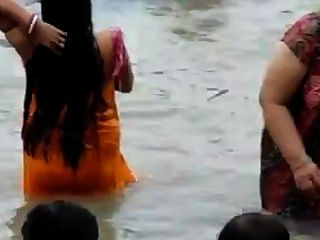 Indian - Ganga Bathing Caught 2