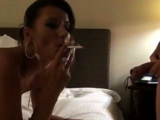 Smoking And Being Facialized