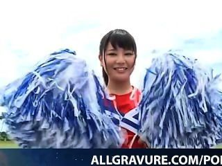 Kurumi Takahashi Is Playful Cheer Leader