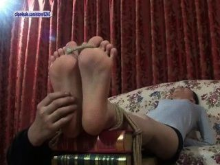 Asian Feet Tickled