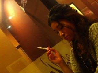 Smoking Asian Girl