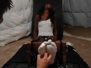 Ebony Foot Tickling