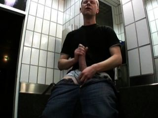 Multiple Cumshots And Caught In Public Toilet