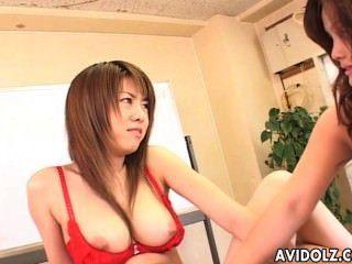 Sweet Japanese Teen Enjoys Having Wild Lesbian Sex