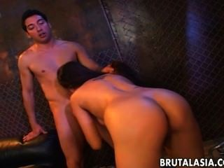 Alluring Japanese Hottie Takes A Fat Dick Up Her Ass