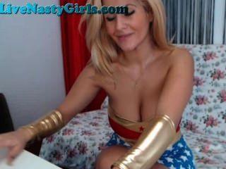 Blonde Wonder Woman And Cop On Webcam Part 5