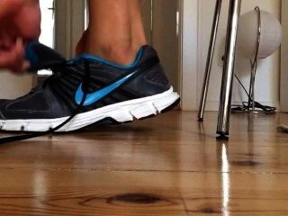 Sneaker Strip And Foot Tease -