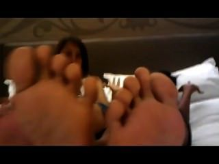 Girls Soles On Face