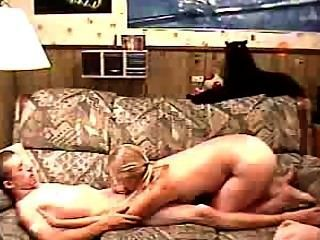 Busty Blonde Blowjob & Ride Cock
