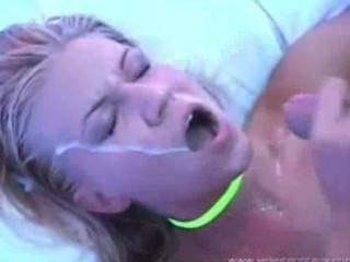 Hot Blonde Gets Facial