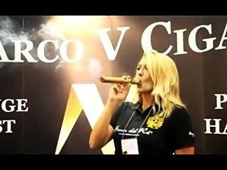 Beautiful Woman Smoking A Marco V King At Ipcpr 2012
