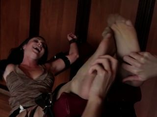 Pretty Chick Restrained And Tickled,